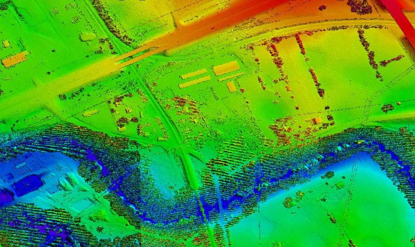 LiDAR Combined Points, Marion County, WV